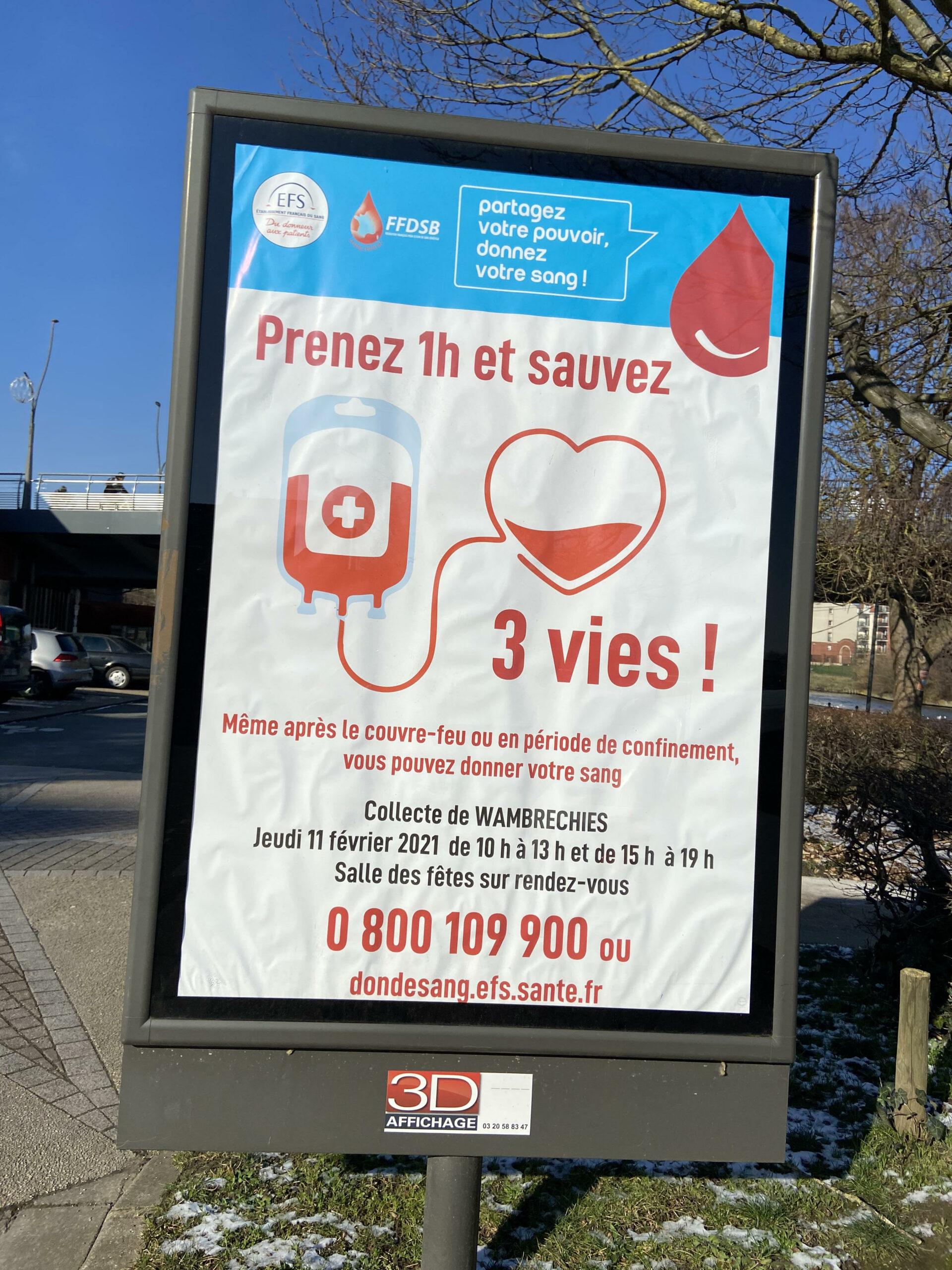 Les panneaux issus de la campagne d'affichage à Wambrechies. Crédit : Maÿlis DUDOUET